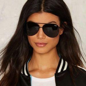 Quay black tinted aviator Sunglasses